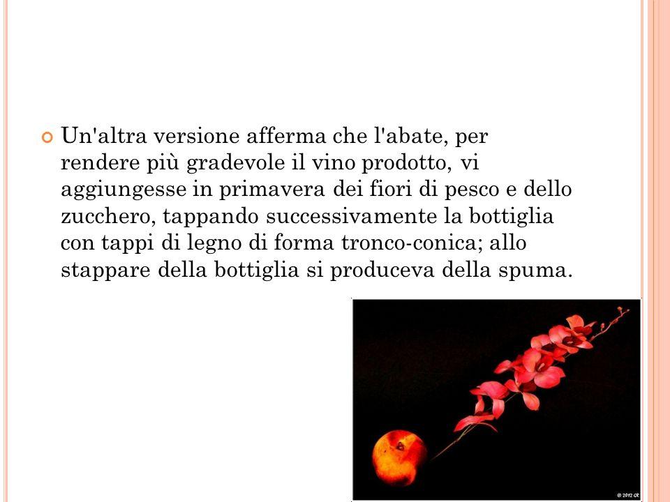 Un ulteriore versione afferma che i viticultori che usavano vinificare le uve di pinot si fossero resi conto che il vino ottenuto invecchiava male nelle botti, per cui decisero di imbottigliarlo subito dopo la fermentazione; nelle bottiglie questo vino conservava efficacemente gli aromi, ma aveva il difetto di diventare naturalmente spumante, il che comportava lo scoppio di molte bottiglie.