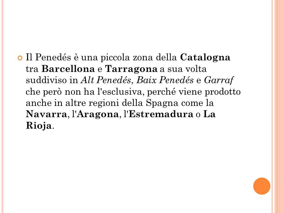 Il Penedés è una piccola zona della Catalogna tra Barcellona e Tarragona a sua volta suddiviso in Alt Penedés, Baix Penedés e Garraf che però non ha l