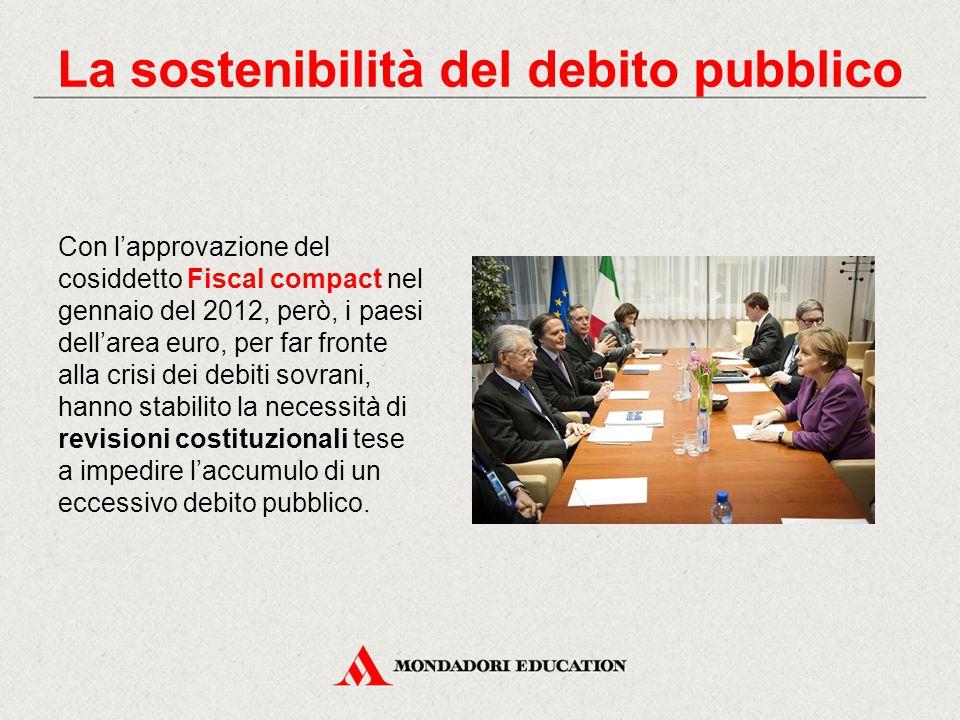 Con l'approvazione del cosiddetto Fiscal compact nel gennaio del 2012, però, i paesi dell'area euro, per far fronte alla crisi dei debiti sovrani, han