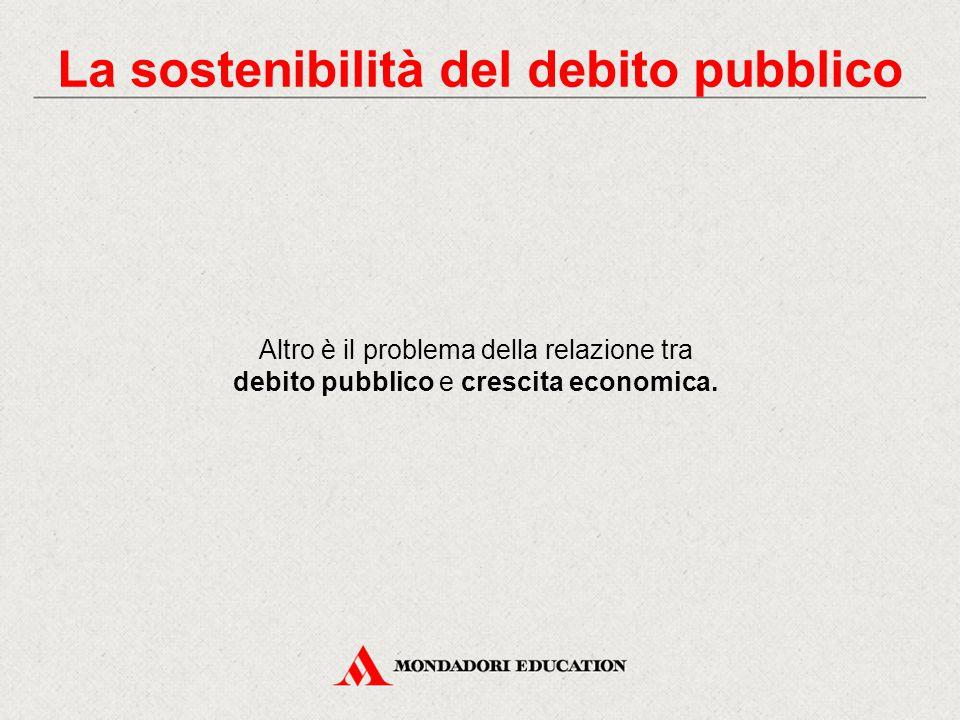 Altro è il problema della relazione tra debito pubblico e crescita economica. La sostenibilità del debito pubblico