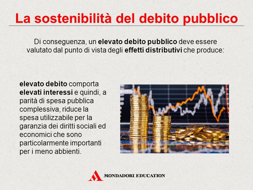 Di conseguenza, un elevato debito pubblico deve essere valutato dal punto di vista degli effetti distributivi che produce: elevato debito comporta ele