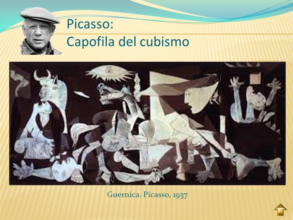 Le demoiselles d'Avignion. Picasso, 1907 Picasso: Capofila del cubismo