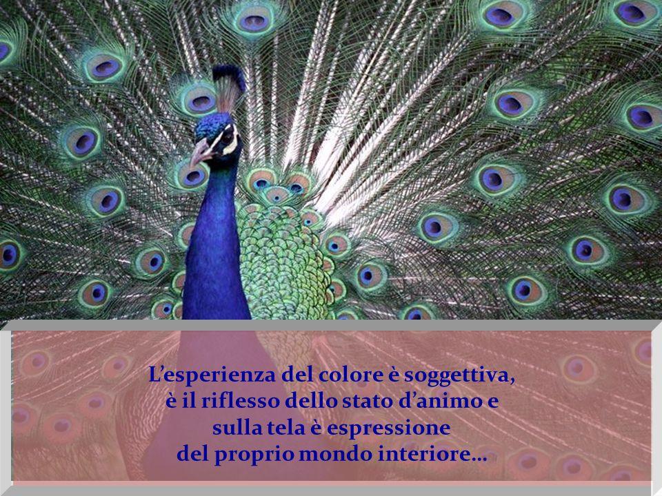 Il regno dei colori permette all'artista di dare voce alla propria ispirazione.