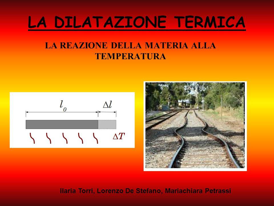 LA DILATAZIONE TERMICA LA REAZIONE DELLA MATERIA ALLA TEMPERATURA Ilaria Torri, Lorenzo De Stefano, Mariachiara Petrassi