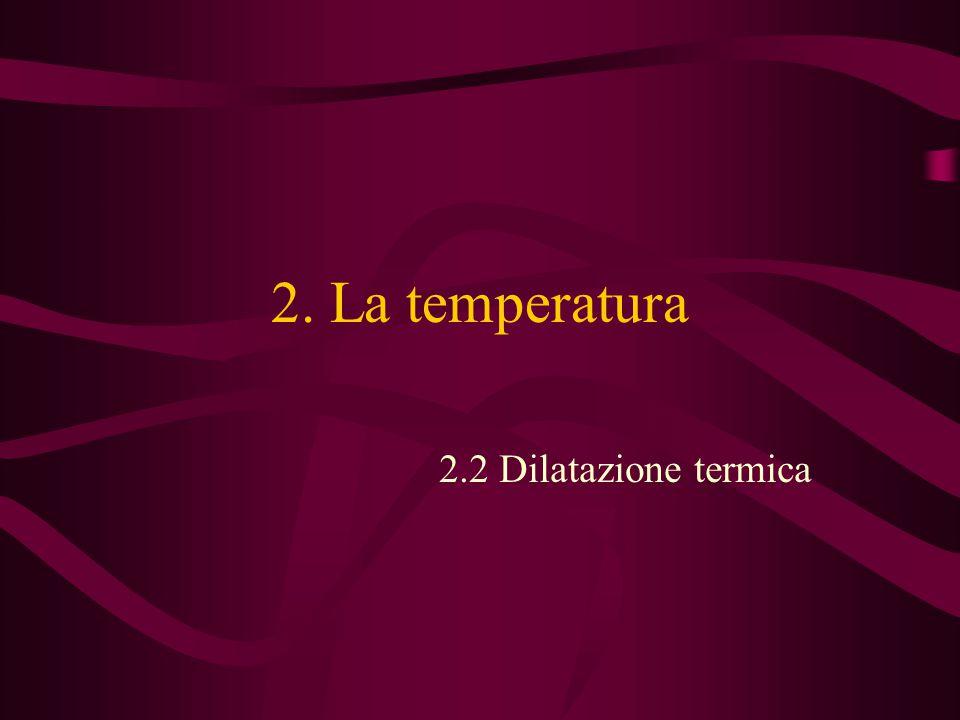 2. La temperatura 2.2 Dilatazione termica