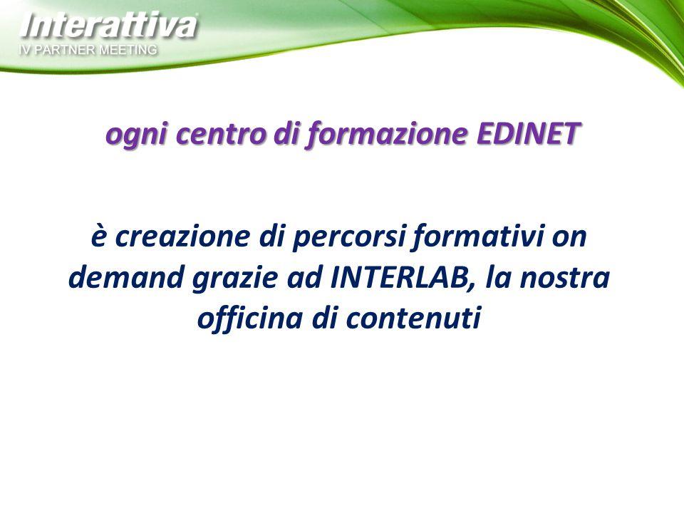 ogni centro di formazione EDINET è creazione di percorsi formativi on demand grazie ad INTERLAB, la nostra officina di contenuti