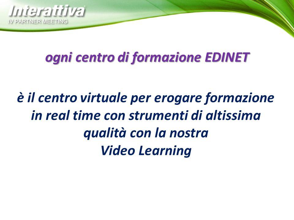 è il centro virtuale per erogare formazione in real time con strumenti di altissima qualità con la nostra Video Learning ogni centro di formazione EDI