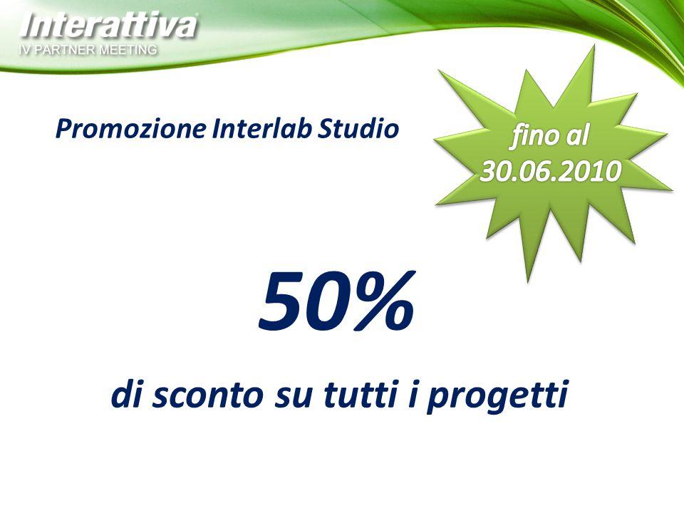 Promozione Interlab Studio di sconto su tutti i progetti 50%
