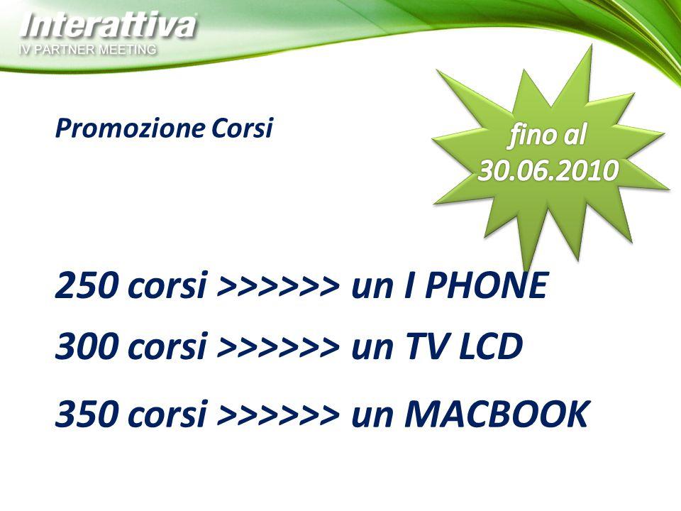 Promozione Corsi 250 corsi >>>>>> un I PHONE 300 corsi >>>>>> un TV LCD 350 corsi >>>>>> un MACBOOK
