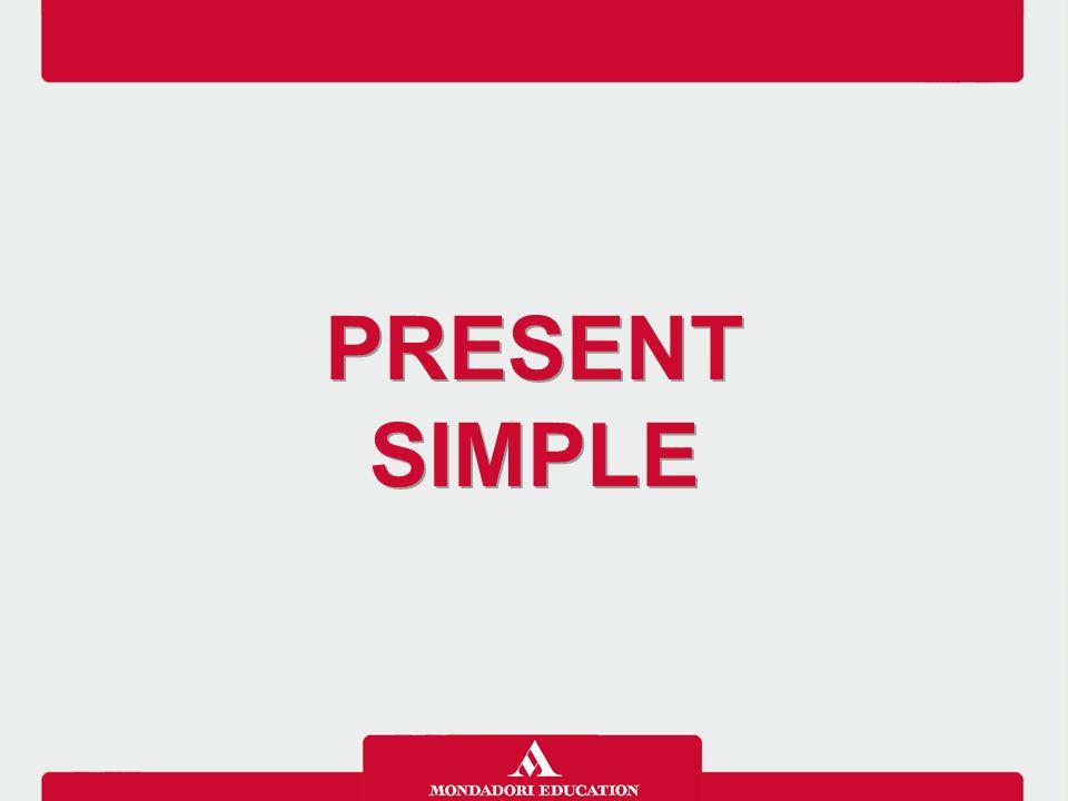 Il Present simple si usa per riferirsi agli avvenimenti che si verificano abitualmente nel presente o che si ripetono nel tempo con regolarità e con espressioni che indicano frequenza.