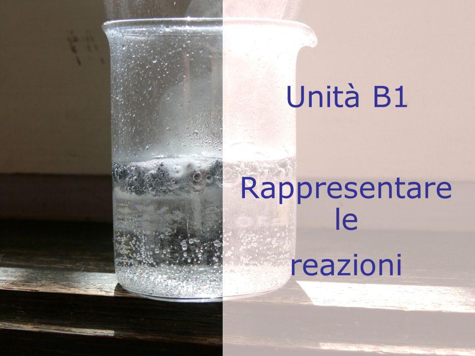 Unità B1 Rappresentare le reazioni