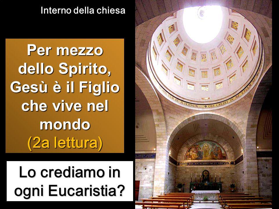 Lo crediamo in ogni Eucaristia? Per mezzo dello Spirito, Gesù è il Figlio che vive nel mondo (2a lettura) Interno della chiesa