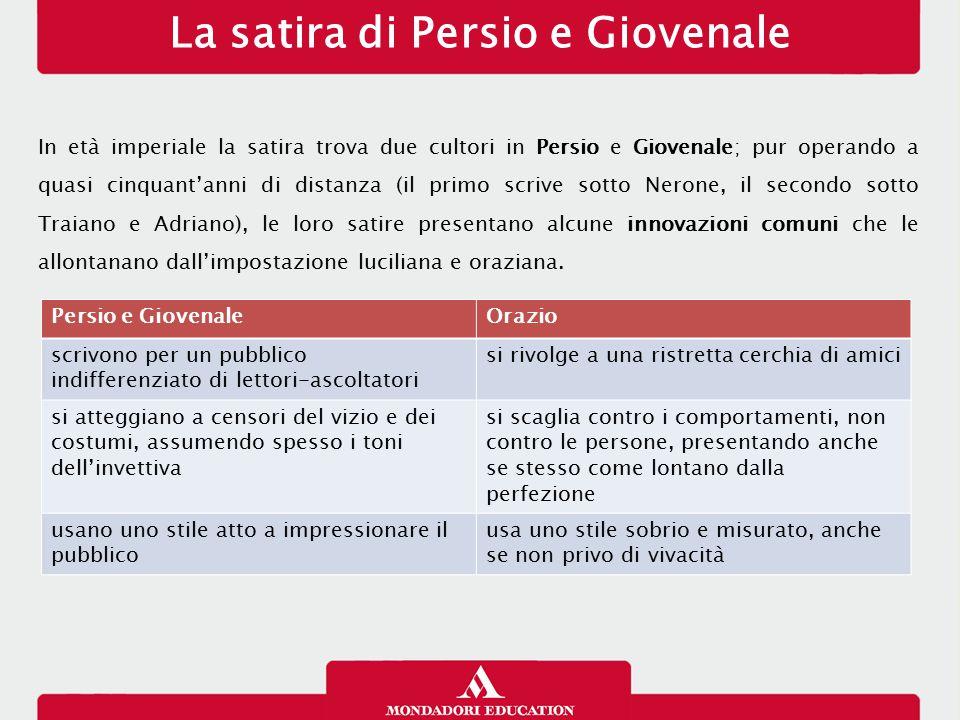 Persio: biografia e produzione Aulo Persio Flacco nasce a Volterra in Etruria nel 34 d.C.