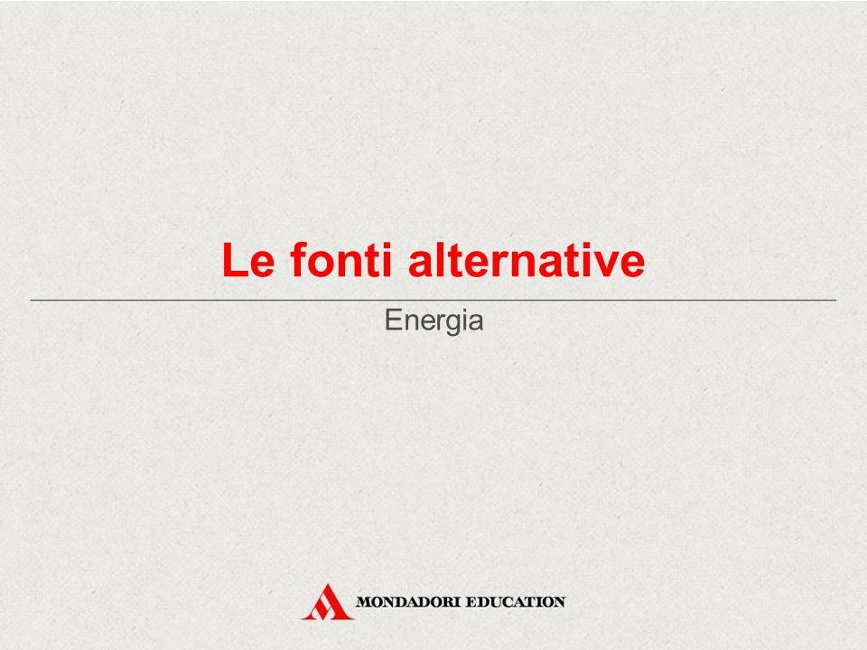 Le fonti alternative Energia