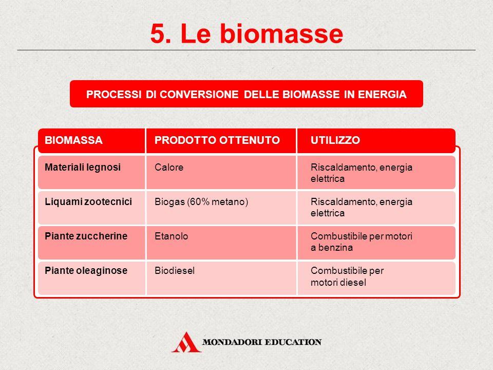 5. Le biomasse LIQUAMI ZOOTECNICI BIOGAS LA CONVERSIONE DELLA BIOMASSA IN ENERGIA: UN ESEMPIO BIOGAS STALLADIGESTOREGASOMETRO RISCALDAMENTOENERGIA ELE