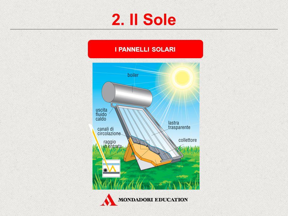 2. Il Sole GLI UTILIZZI Pannelli solari a uso domestico PRODUZIONE DI ENERGIA ELETTRICA Una centrale solare PRODUZIONE DI ENERGIA TERMICA Le celle fot