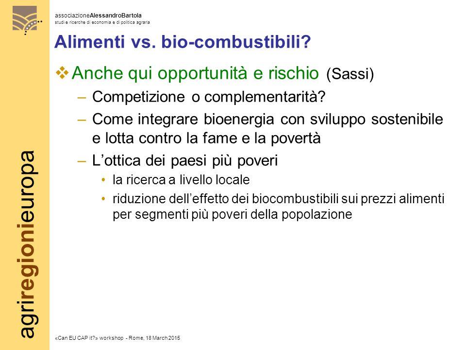agriregionieuropa associazioneAlessandroBartola studi e ricerche di economia e di politica agraria «Can EU CAP it » workshop - Rome, 18 March 2015 Alimenti vs.
