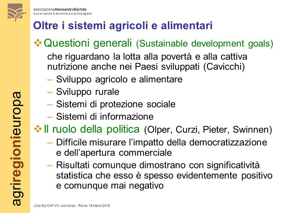 agriregionieuropa associazioneAlessandroBartola studi e ricerche di economia e di politica agraria «Can EU CAP it?» workshop - Rome, 18 March 2015 Olt