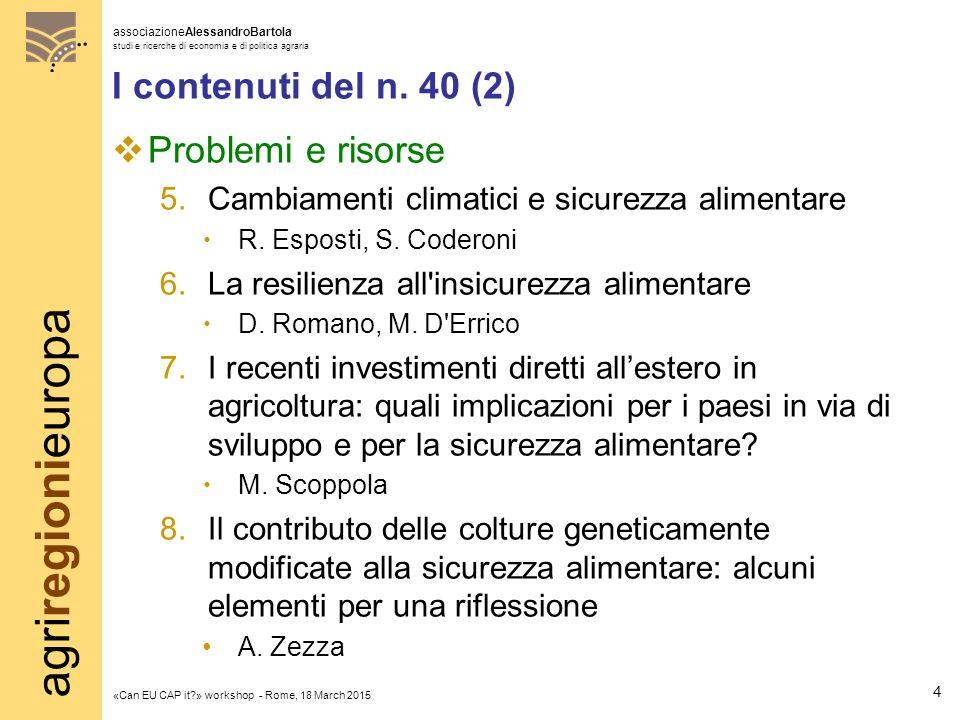 agriregionieuropa associazioneAlessandroBartola studi e ricerche di economia e di politica agraria «Can EU CAP it?» workshop - Rome, 18 March 2015 Grazie