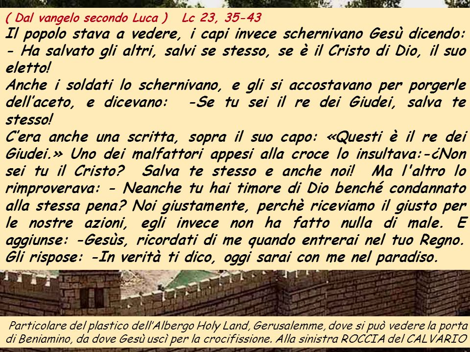 ALLELUIA Mc 11, 10 Benedetto colui che viene nel nome del Signore: benedetto il suo regno che viene.