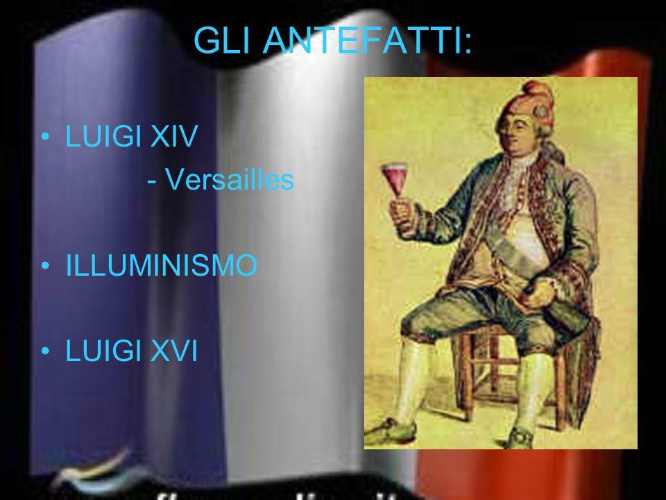 GLI ANTEFATTI: LUIGI XIV - Versailles ILLUMINISMO LUIGI XVI