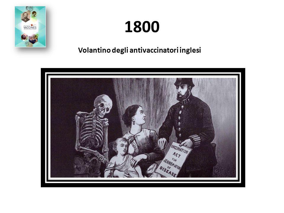 1800 Volantino degli antivaccinatori inglesi