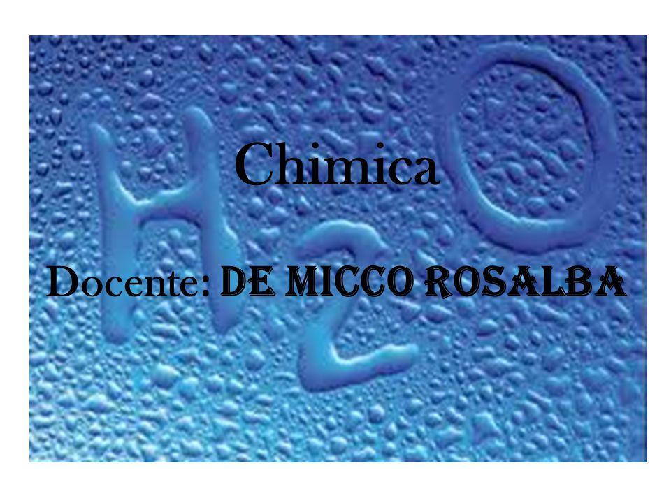 Chimica Docente : De Micco Rosalba