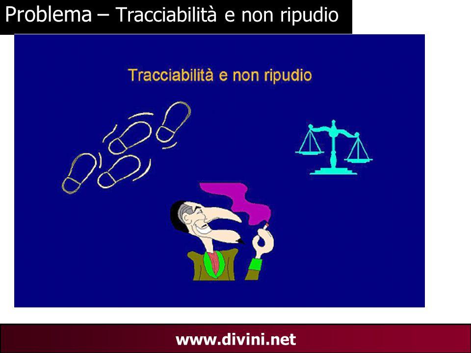 00 AN 17 www.divini.net Problema – Tracciabilità e non ripudio
