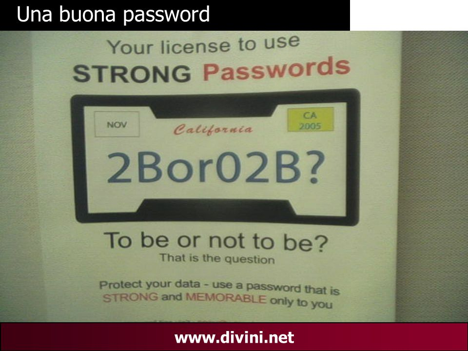 00 AN 31 www.divini.net Una buona password