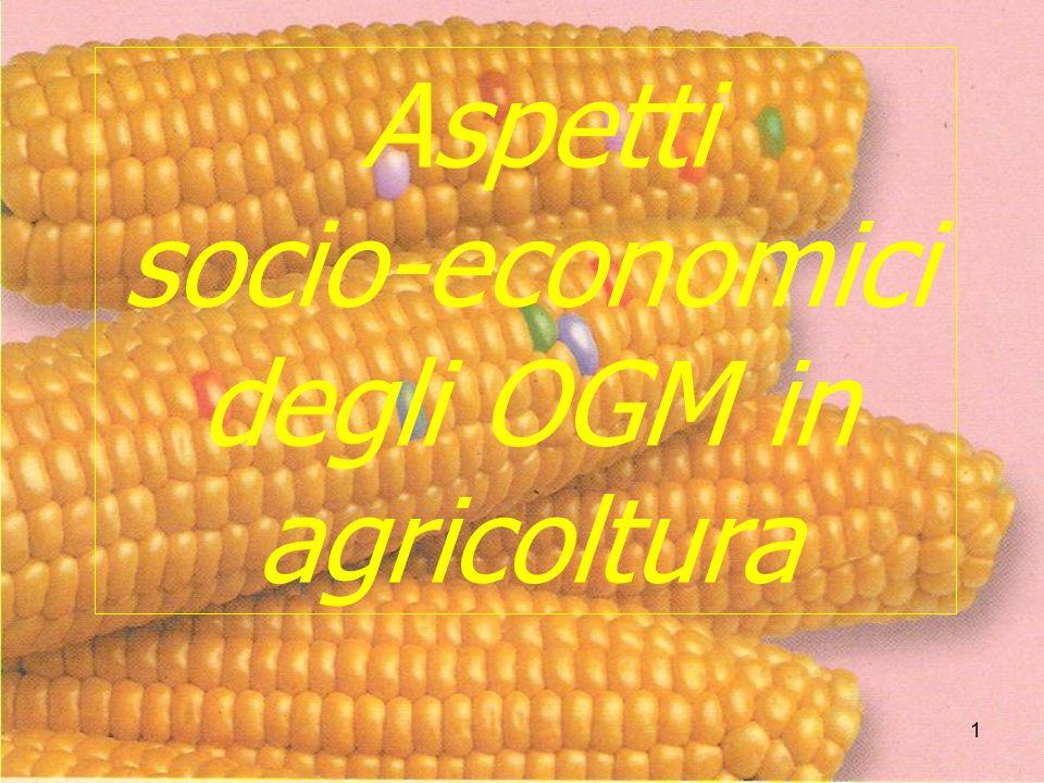 22 Potremo noi, Agricoltura Italiana, competere con gli stessi prodotti OGM, con Agricolture che hanno condizioni produttive molto più vantaggiose delle nostre, che determinano costi di produzione decisamente inferiori ai nostri?