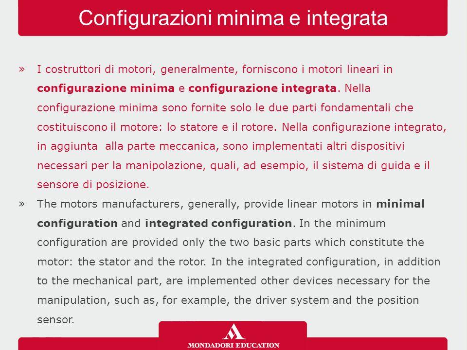 »I costruttori di motori, generalmente, forniscono i motori lineari in configurazione minima e configurazione integrata.