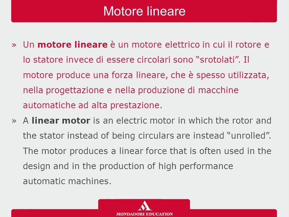 »Un motore lineare ha la capacità di produrre una spinta diretta senza alcuna conversione di energia di rotazione in energia traslazionale.