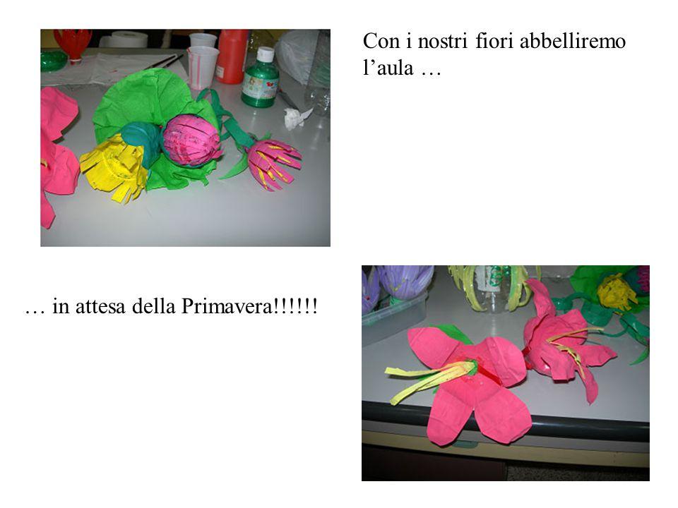 Con i nostri fiori abbelliremo l'aula … … in attesa della Primavera!!!!!!