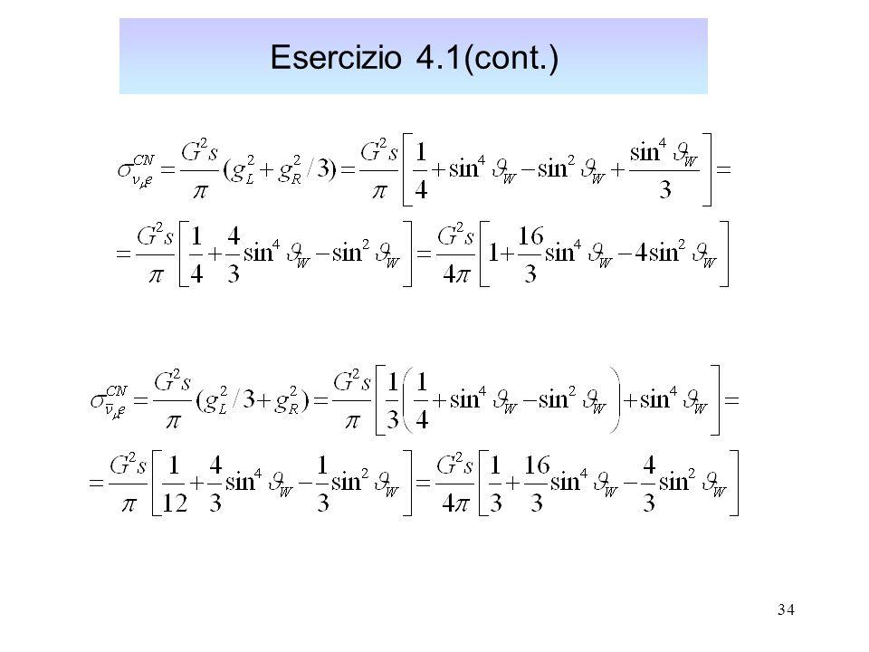 34 Esercizio 4.1(cont.)