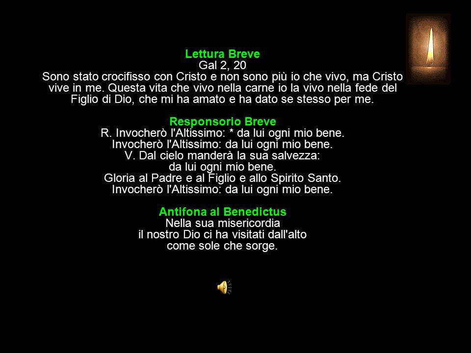 3^ Antifona Città di Dio, loda il tuo Signore: egli manda a te la sua parola.