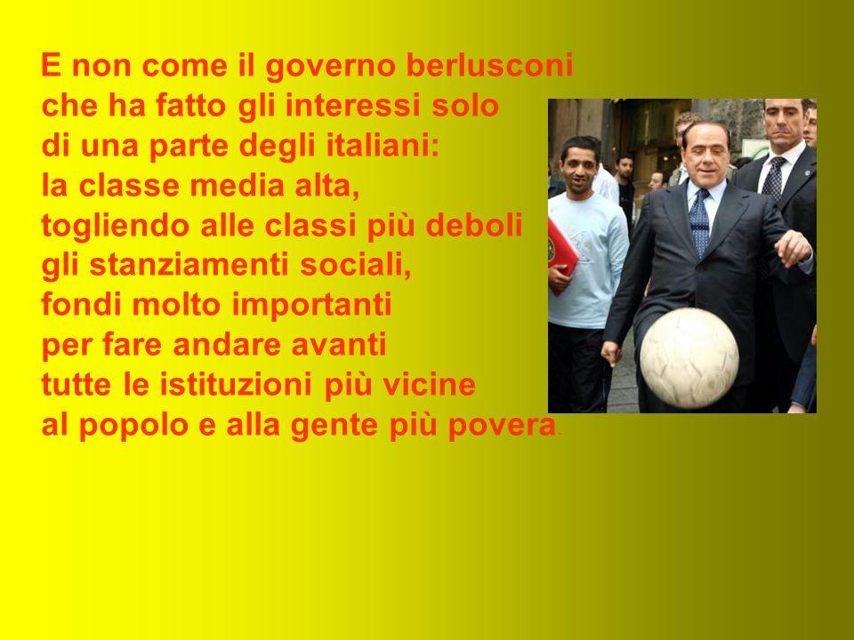 Il governo Prodi parte con un programma lungo e con un progetto ben preciso e governerà giorno per giorno ma seguendo un obiettivo preciso: il bene dell'Italia e di tutti gli Italiani.