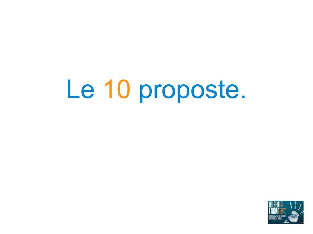 Le 10 proposte.