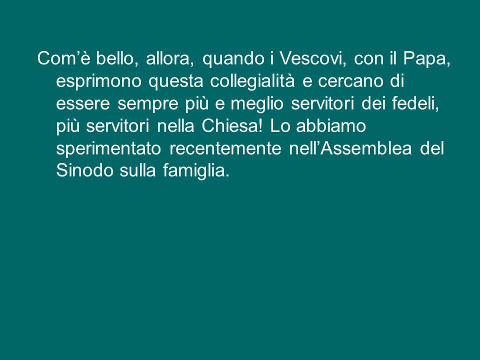 Anche i Vescovi costituiscono un unico collegio, raccolto attorno al Papa, il quale è custode e garante di questa profonda comunione, che stava tanto