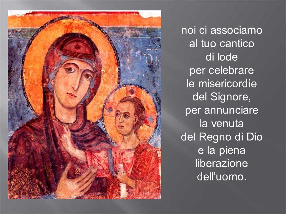 Ave Maria, umile serva del Signore, gloriosa Madre di Cristo.
