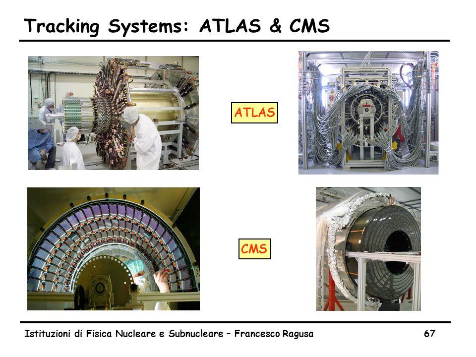 Istituzioni di Fisica Nucleare e Subnucleare – Francesco Ragusa67 Tracking Systems: ATLAS & CMS ATLAS CMS