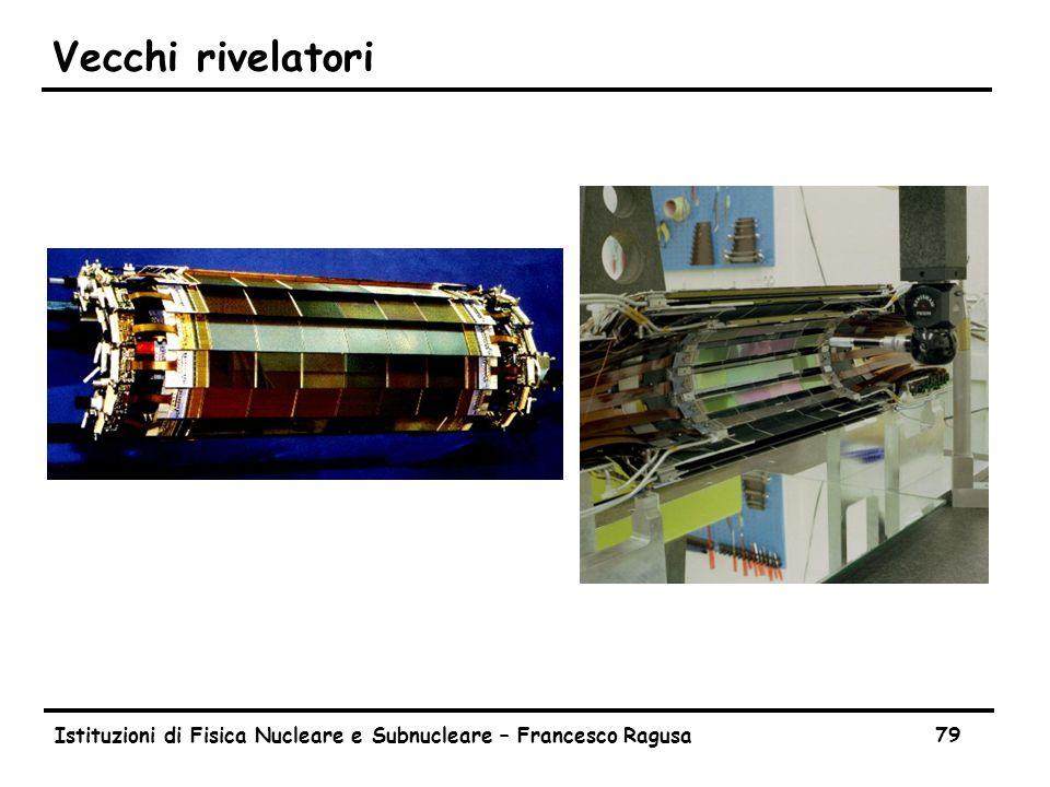 Istituzioni di Fisica Nucleare e Subnucleare – Francesco Ragusa79 Vecchi rivelatori