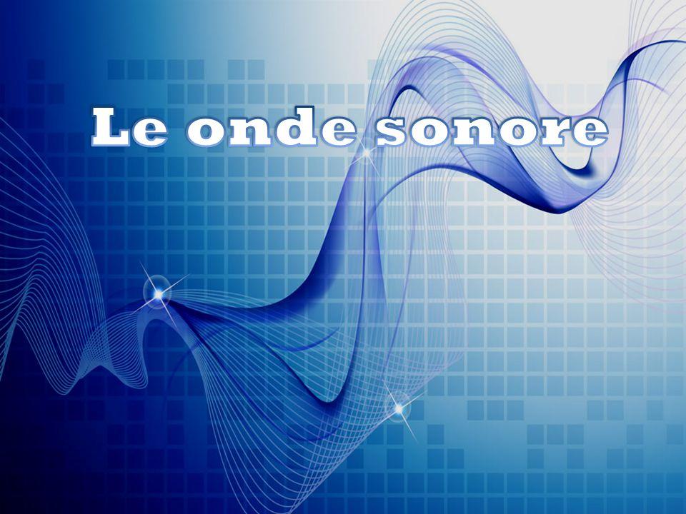 L'onda sonora è un' onda longitudinale causata da sorgenti vibranti che provocano una variazione locale della pressione