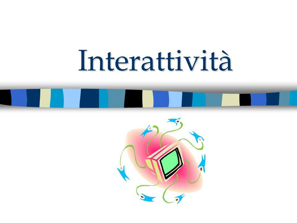 Interattività: Che programmi.