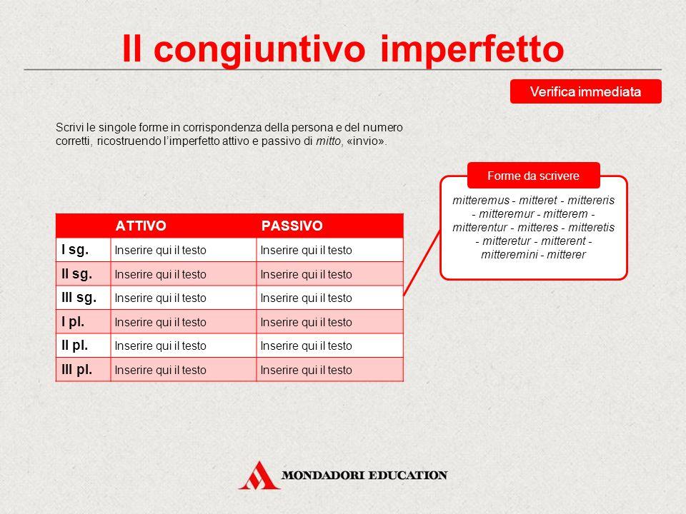 Il congiuntivo imperfetto Ecco la flessione del congiuntivo imperfetto dei verbi dico (III con.), audio (IV con.): Tabelle di flessione Dico, -is, dix