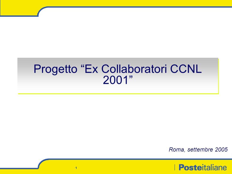 1 Progetto Ex Collaboratori CCNL 2001 Roma, settembre 2005