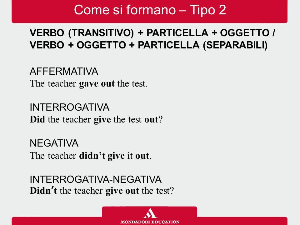 VERBO (TRANSITIVO) + PARTICELLA + OGGETTO (NON SEPARABILI) AFFERMATIVA Shop assistants deal with the public.