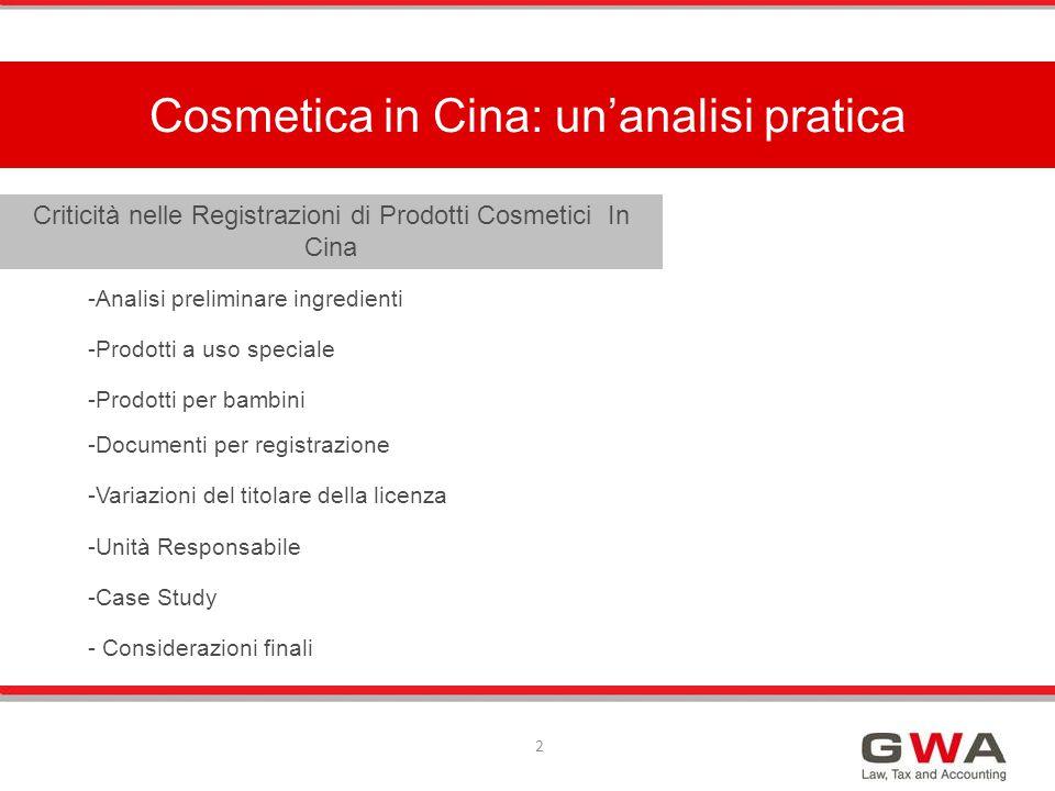 Una distinzione rilevante per la procedura di registrazione è la categoria nuovi ingredienti per i cosmetici .