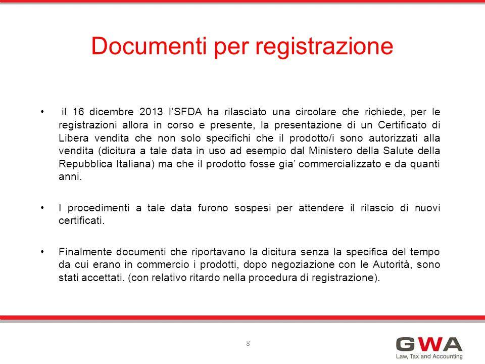 Si prega di considerare che durante la procedura di registrazione cosi' come nelle procedure di registrazione susseguenti a registrazioni iniziali la coerenza dei dati del soggetto titolare delle licenze e' fondamentale.