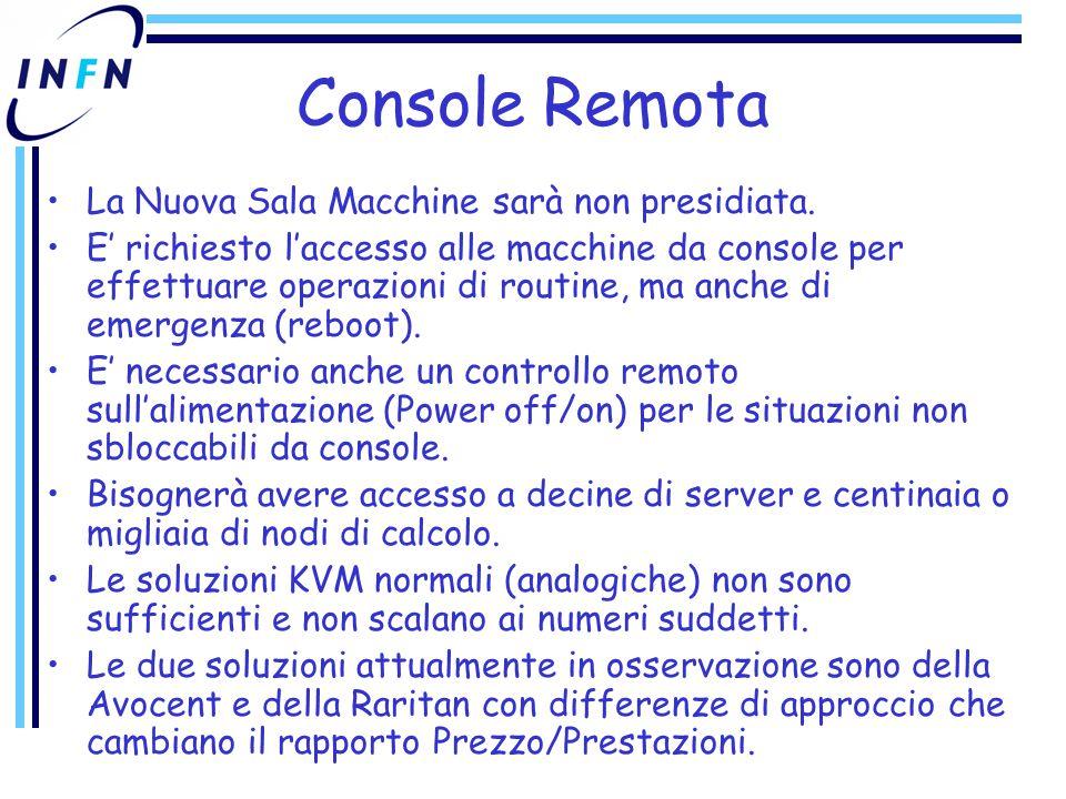 Console Remota La Nuova Sala Macchine sarà non presidiata.