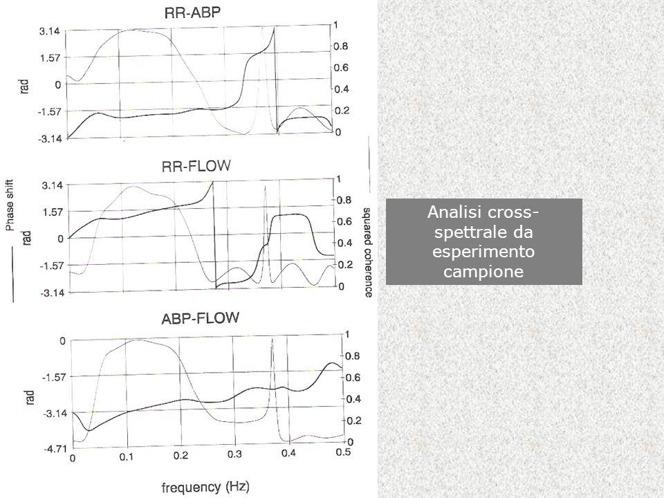 Analisi cross- spettrale da esperimento campione